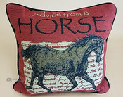 Rustic Word of Advice Pillow 12x8 -Horse