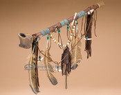 Native American Navajo Beaded Antler Pipe