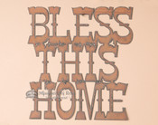 Metal Art Sign - Bless This Home