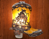 Beautiful western boot night light.
