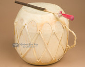 Rawhide hand drum with striker