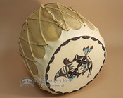 Painted drum, Native American Rainbird