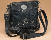 Western Faux Cowhide Messenger Bag Purse