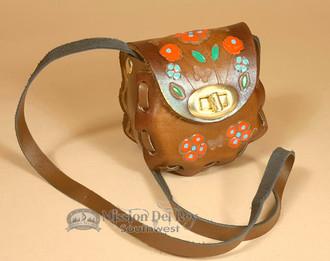 Mini Hand Stitched Tooled Leather Bag