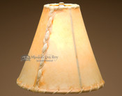 Southwestern rawhide lamp shade - bell size. 10""