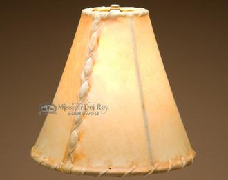 "Southwestern rawhide lamp shade - bell size. 10"""