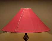 "Western Leather Lamp Shade - 24"" Red Pig Skin"