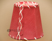 """4"""" Red Pig Skin Leather Chandelier Shade"""