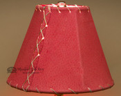 Western Leather Lamp Shade Red Pig Skin
