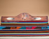 Southwest style painted rug hanger - Kokopelli.