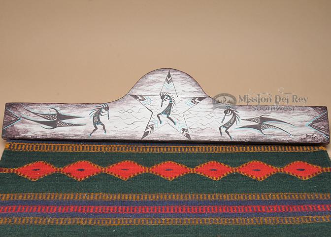Hand Painted Wooden Rug Hanger 30 Quot Kokopelli Rh42