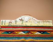 "Hand Painted Southwest Rug Hanger 30"" -Cowboy (RH55)"