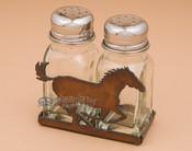 Metal Salt and Pepper Shaker - Horse