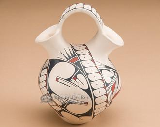 Mata Ortiz painted wedding vase.