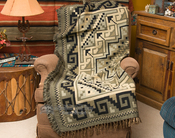 Southwest Navajo Tan Design Throw