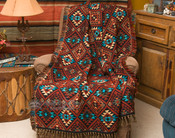 Southwestern rust throw blanket. (sierra)