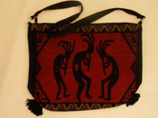 Southwest Kokopelli Flat Bottom Acrylic Purse