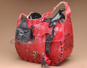 Western Tooled Leather Saddle Purse