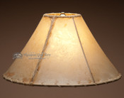 Southwestern light rawhide lamp shade. 16""