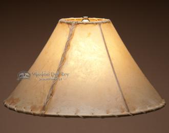 "Southwestern light rawhide lamp shade. 16"""