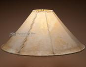 "Southwestern rawhide lampshade - 22""."