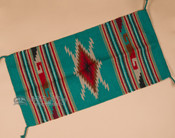 """Southwest Hand Woven Wool Rug - Wall Hanging 20""""x40"""" (40110a)"""