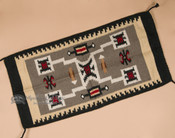 Southwestern Wool Tapestry Rug 20x40 -Storm (40403)