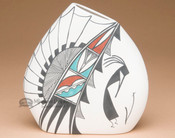 Native American Mini Tigua Pillow Vase -Kokopelli