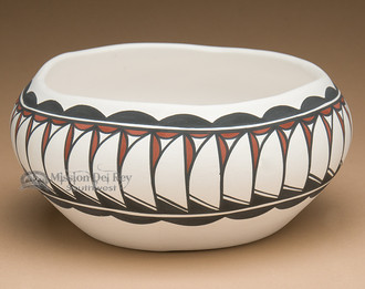 Tigua Indian Painted Pottery Bowl
