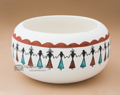 Painted Tigua Bowl - Friendship
