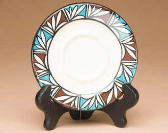 Hand Painted Pottery Plate -Tigua