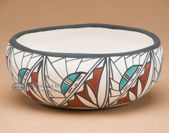 Hand Painted Bowl - Sunface