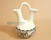 Native American Tigua Wedding Vase - 9""
