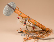 Decorative Stone Tomahawk - Woven Handle
