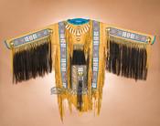 Native American Tigua Indian Beaded War Shirt
