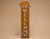 Metal Art Welcome Sign - Bear