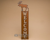 Lodge Metal Welcome Sign - Moose