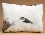 Rustic Western Cowhide Pillow 12x18 -Patchwork