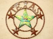 """Rustic Metal Texas Star 16"""" -Deer"""