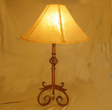 Western Wrought Iron Lamp -Sedona