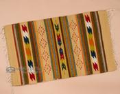 Zapotec Indian wool woven rug.