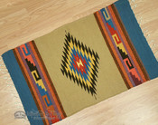 "Southwestern Zapotec Indian Rug 23""x39"""