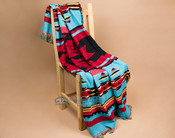 Designer Pueblo throw blanket -turquoise