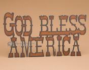 Metal Art Wall Sign - God Bless