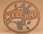 Rustic Metal Art Welcome Sign