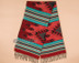 Southwestern Shawl -Turquoise & Red Coral