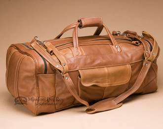 Cowhide Leather Duffle Bag - Saddle