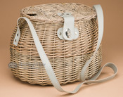 Old Style Oval Creel Fishing Basket