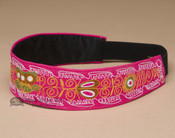 Embroidered Andean Headband - Hot Pink