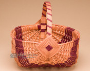 Medium Amish Egg Basket - Red